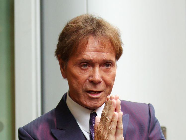 Sir Cliff Richard arrives at the Rolls Building in London, as a High Court judge is preparing to analyse evidence in a legal battle between Sir Cliff and the BBC
