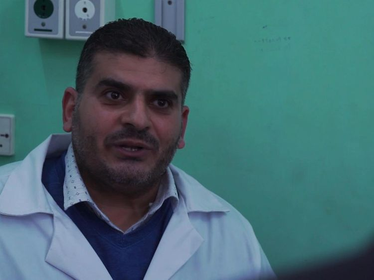 Dr Ayman Harb is discharging seriously injured patients to make way for more