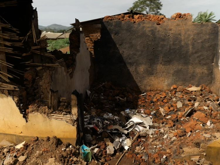 The family's home was torn to pieces