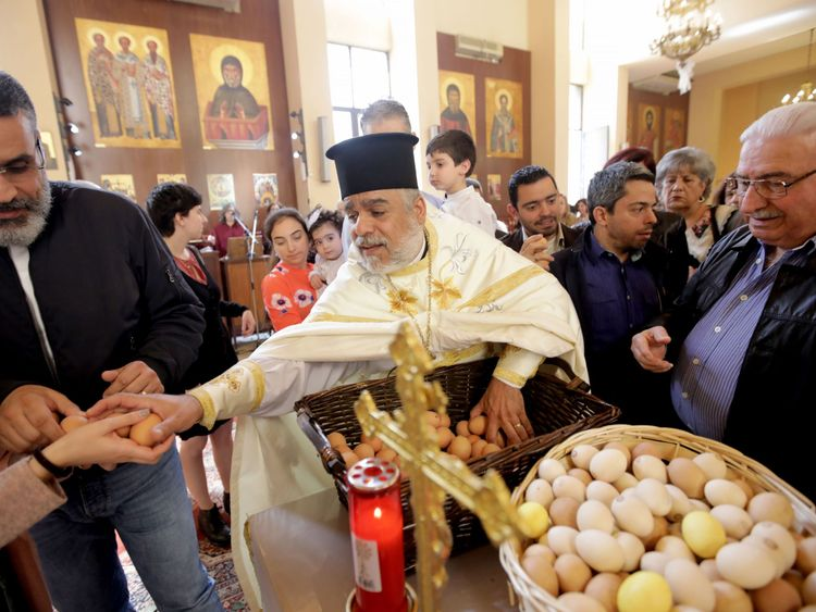 Lebanese Christians celebrate Easter on the outskirts of Beirut
