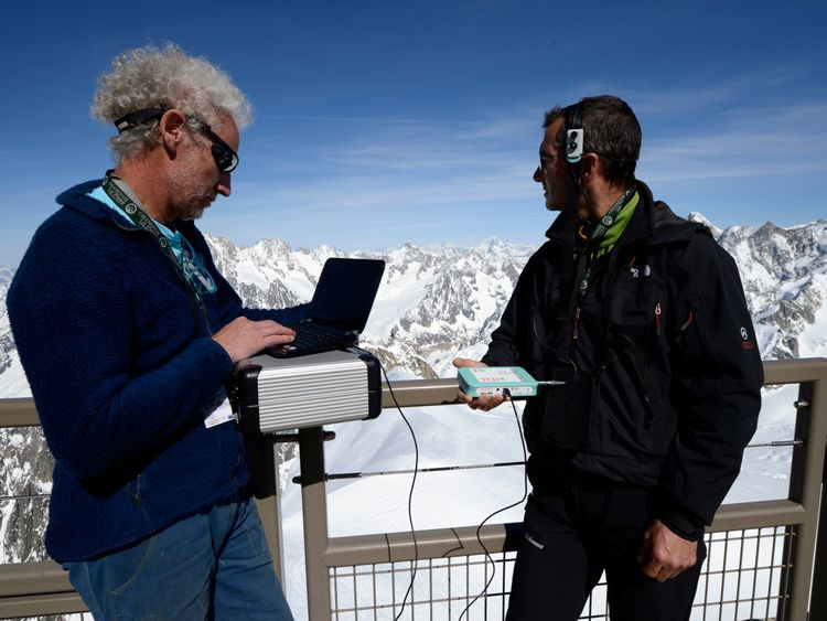 Dr Cauchy conducting altitude sickness tests in 2013