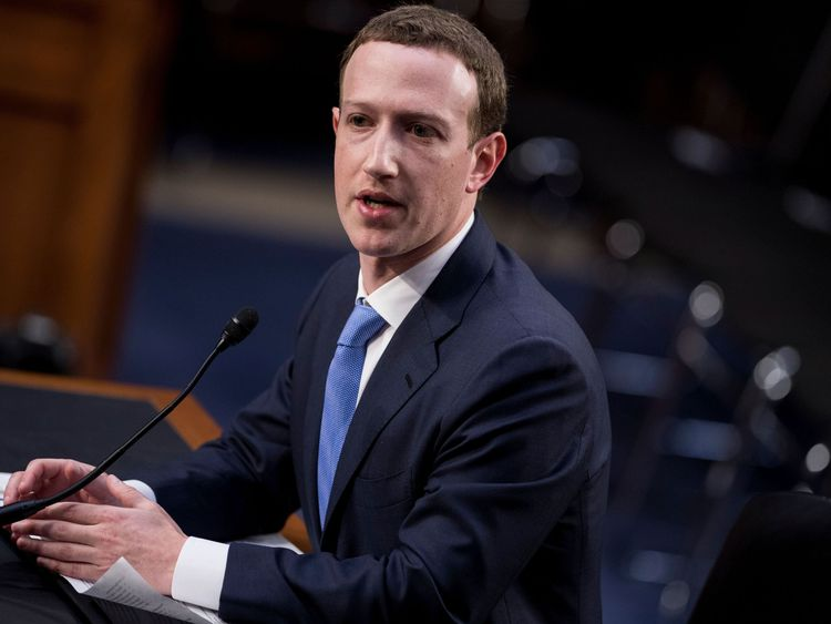 Facebook CEO Mark Zuckerberg addresses senators on Tuesday