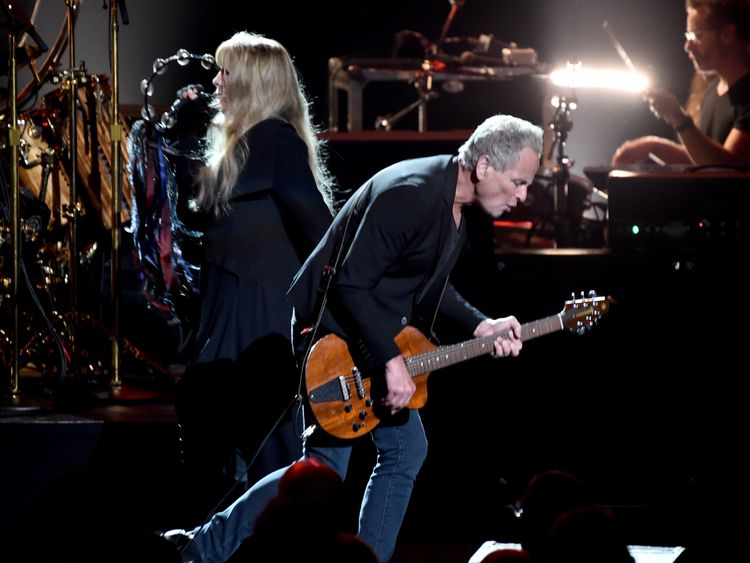 Lindsey Buckingham an his former partner Stevie Nicks