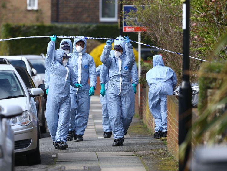 South Park Crescent in Hither Green, London, after a pensioner was arrested on suspicion of murder