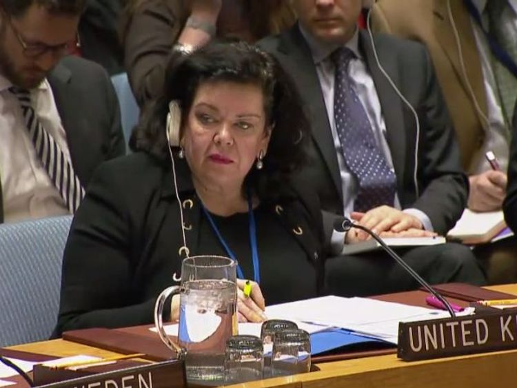 Karen Pierce, UK ambo to the UN