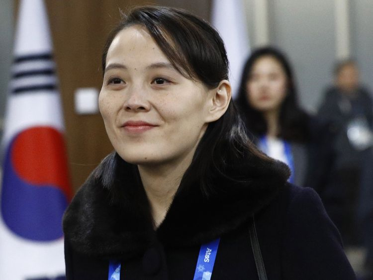 Kim Yo Jong, sister of North Korean leader Kim Jong Un, arrives at the opening ceremony of the PyeongChang 2018 Winter Olympic Games