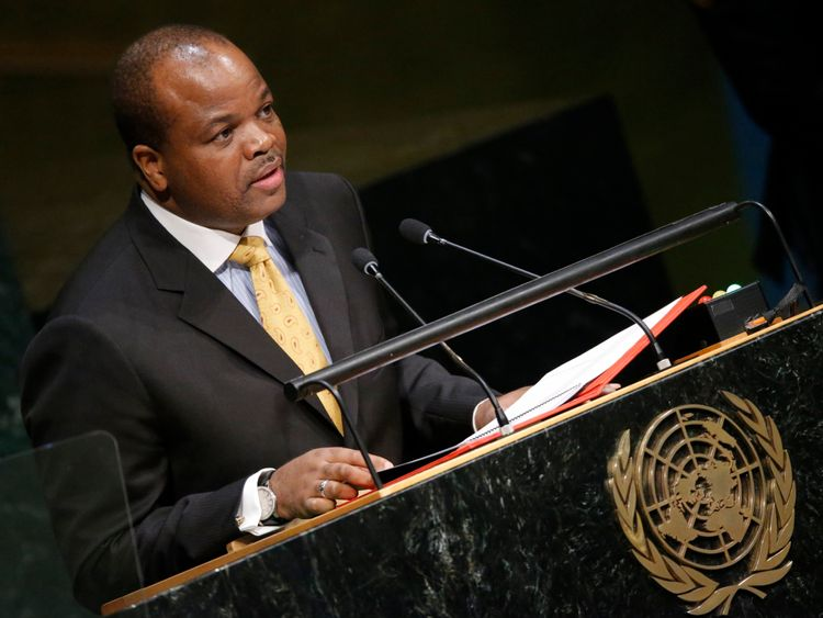 King Mswati III at the United Nations in 2015