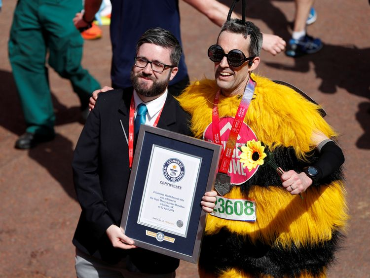 Some of those in fancy dress were going for Guinness World Records