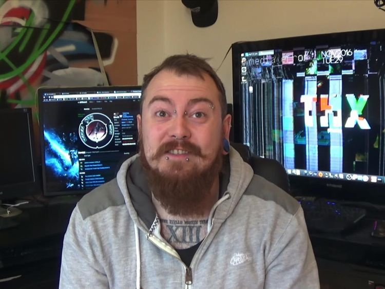 Mark Meechan was convicted of a hate crime after posting videos on YouTube of a pet dog giving Nazi salutes. Pic: YouTube/Count Dankula