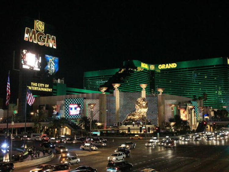 Gavin Cox slipped during the performance at the MGM Grand hotel