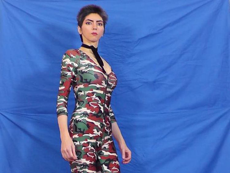 On her website Nasim Aghdam describes herself as an athlete, vegan and artist