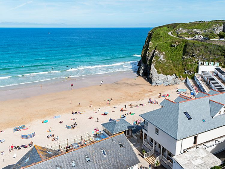 People in Newquay, Cornwall, will be heading to the beach during next week's sunny weather
