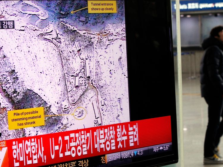 Buildings being dismantled at NK nuke test site