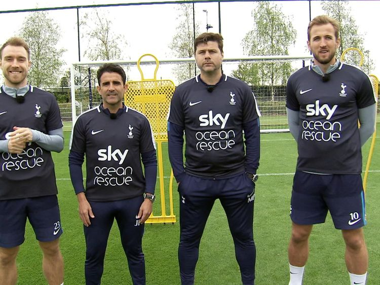 Harry Kane and Mauricio Pochettino are getting behind the Ocean Rescue Campaign