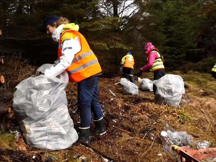 100s of people inspired by Sky's Ocean Rescue campaign, in Norway collecting plastic waste