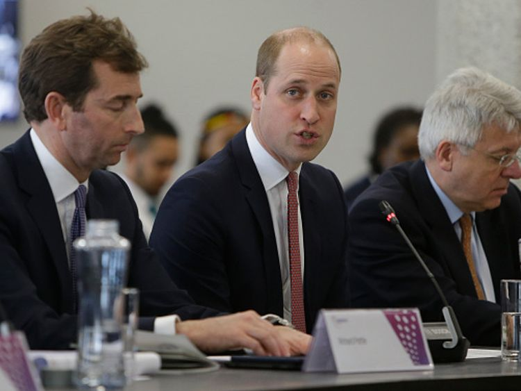 Prince William made a brief speech at the event where spoke with Nando's co-founder Robert Brozin