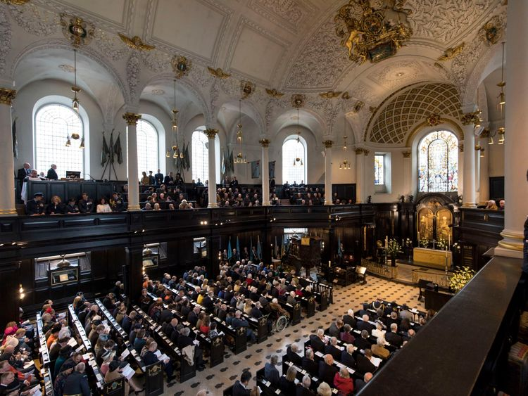 The service to mark the RAF's centenary