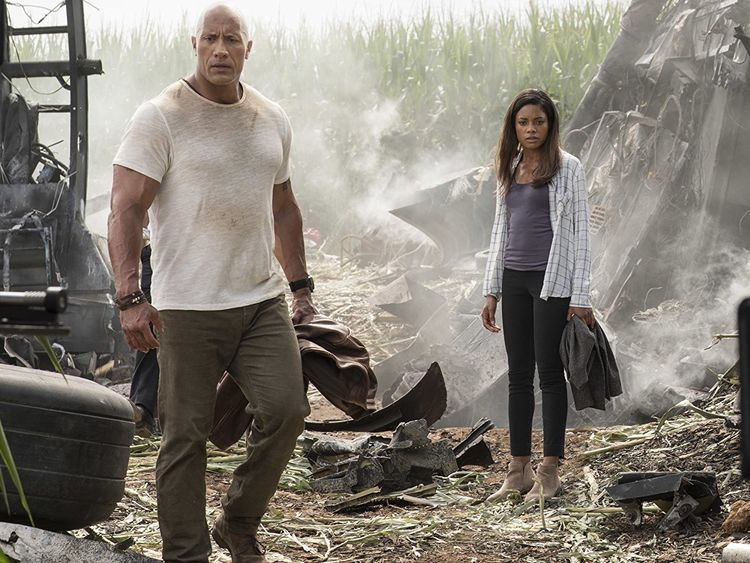The Rock and Naomie Harris