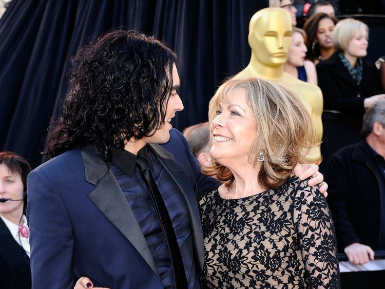 Russell Brand and his mother Barbara