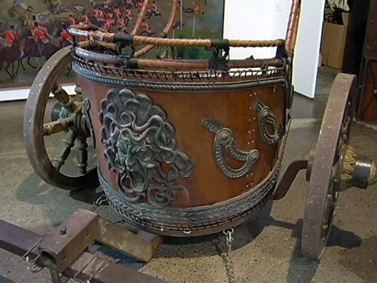 The replica Roman chariot used in Gladiator has sold for AU$65,000 (£35,488)