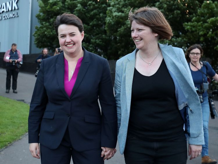 Ruth Davidson pregnant with first child