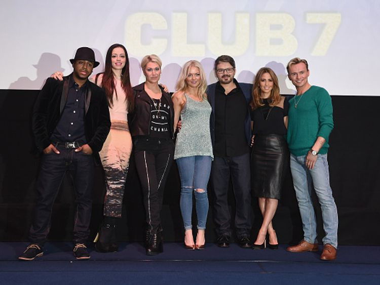 Spearritt with her fellow S Club 7 members a year before their 2015 reunion tour