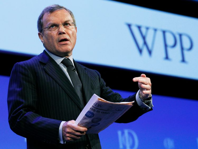 Chief Executive of WPP Group, Sir Martin Sorrell, addressing business leaders in 2010
