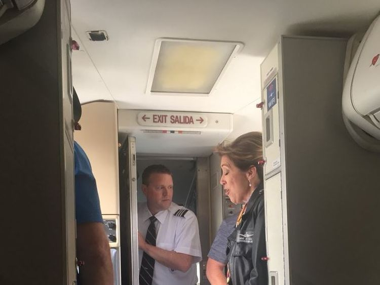 Tammie Jo Shults on the plane. Pic: @EMMS_MrJohnson