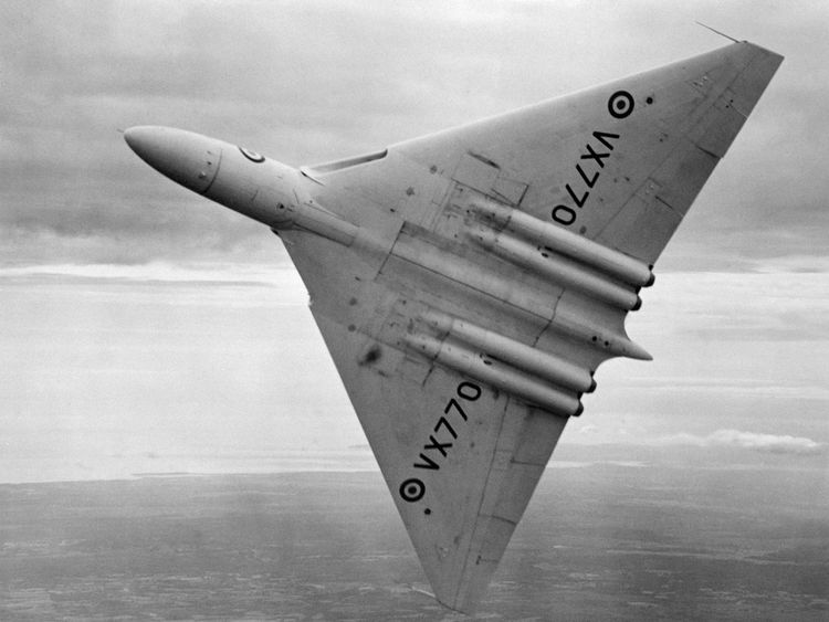 File photo dated 6/9/1958 of an RAF Avro Vulcan bomber. The last plane of its type still flying, Vulcan XH558 based at Robin Hood Airport, Doncaster, is going to take its final flight shortly.