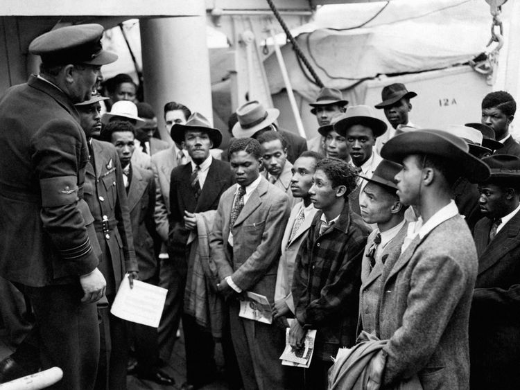 Inside immigration centre with Windrush residents