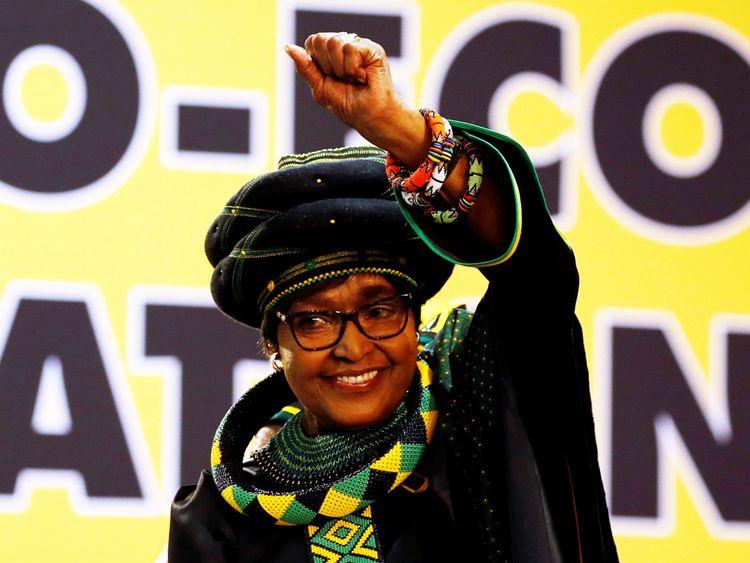 Winnie Madikizela Mandela, ex-wife of former South African president Nelson Mandela