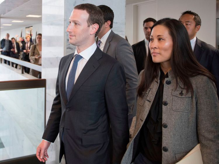 Mark Zuckerberg and his wife Priscilla in Washington DC