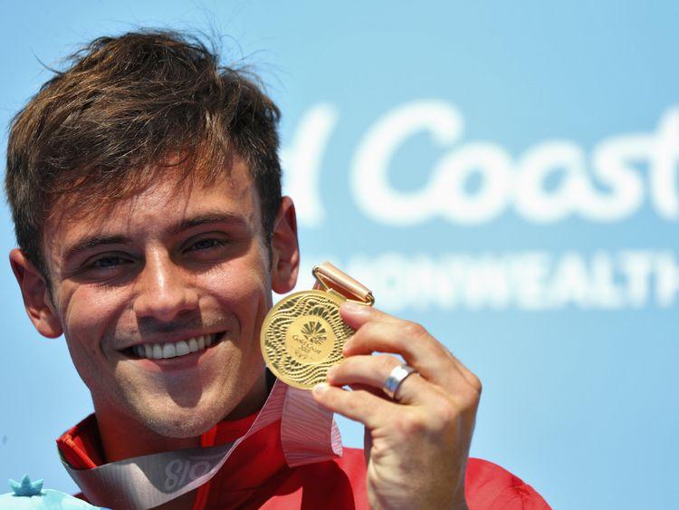 Gold medallist Tom Daley