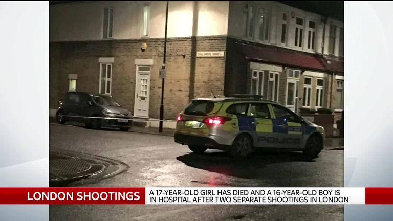 Scene of London shooting
