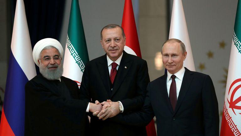 Iran's Hassan Rouhani, Turkey's Tayyip Erdogan and Russian President Vladimir Putin met in Ankara this week