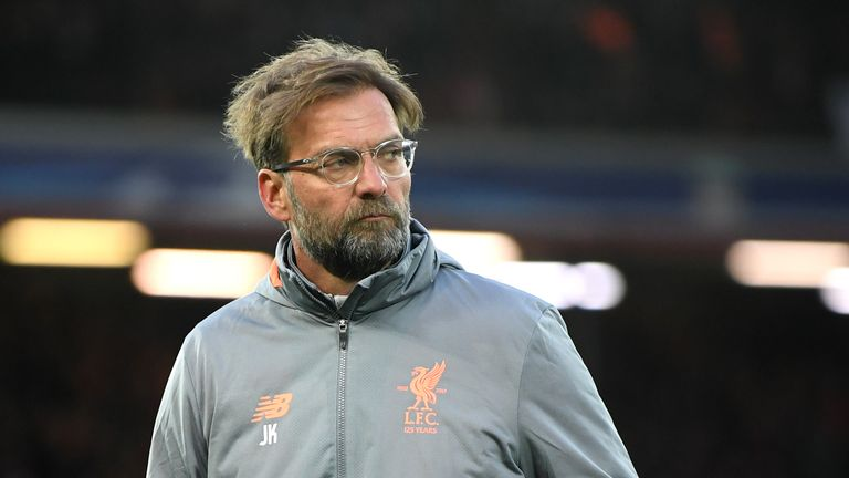 during the UEFA Champions League Quarter Final Leg One match between Liverpool and Manchester City at Anfield on April 4, 2018 in Liverpool, England.