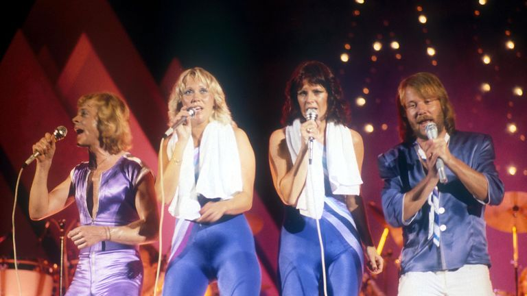 Abba perform at their first North American tour in Edmonton, Canada, in 1979