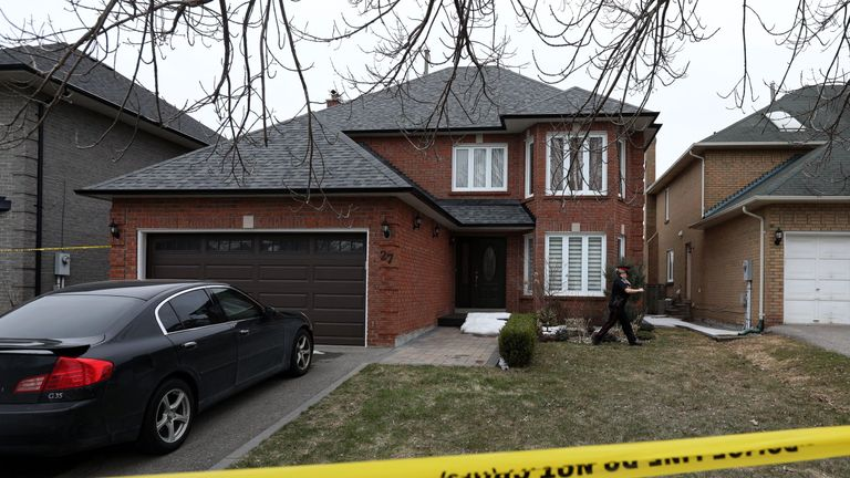 Police mark off Alek Minassian's house in Richmond Hill, Ontario