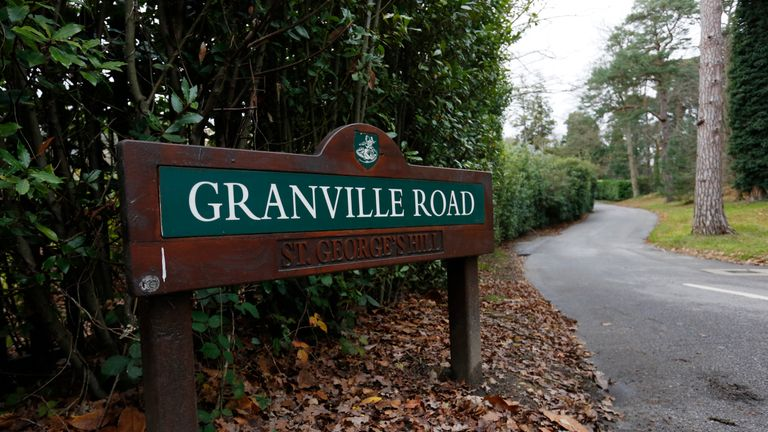 Granville Road on the St George's Hill private estate, where Alexander Perepilichnyy collapsed