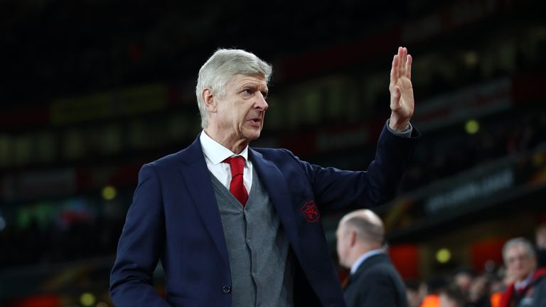 Wenger pictured during his side's Europa League clash with AC Milan in March