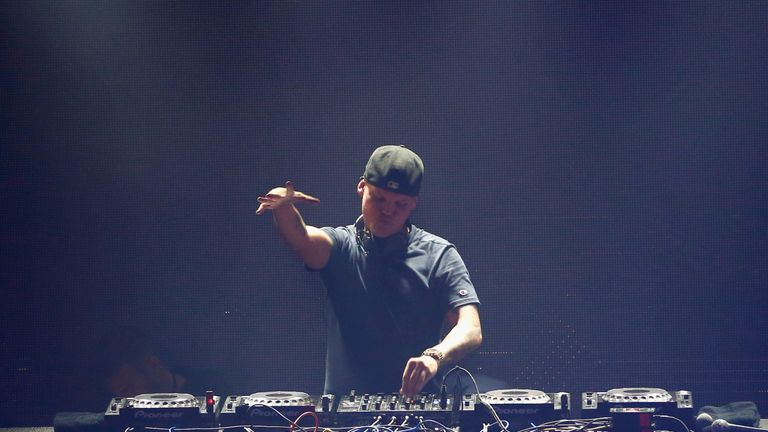 Avicii performing in San Francisco in 2016