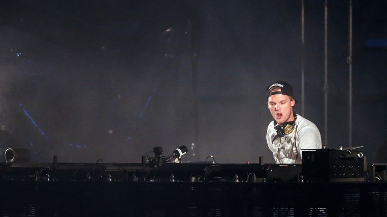 Avicii performing in Gothenburg in 2015
