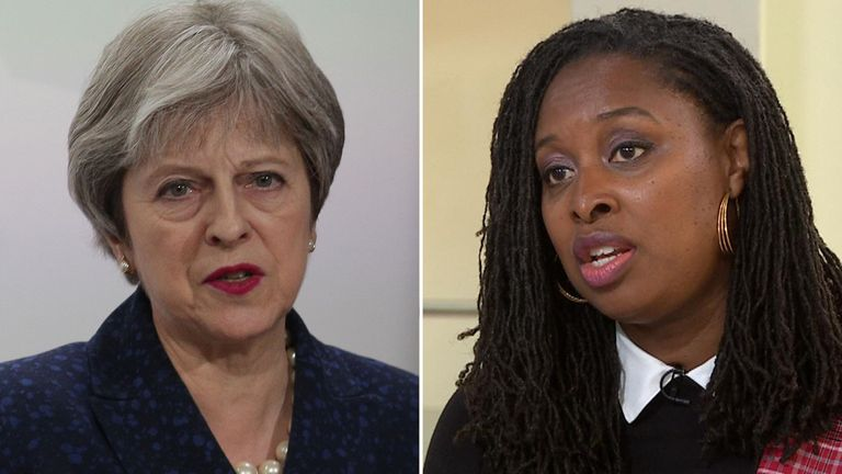 Theresa May and Dawn Butler