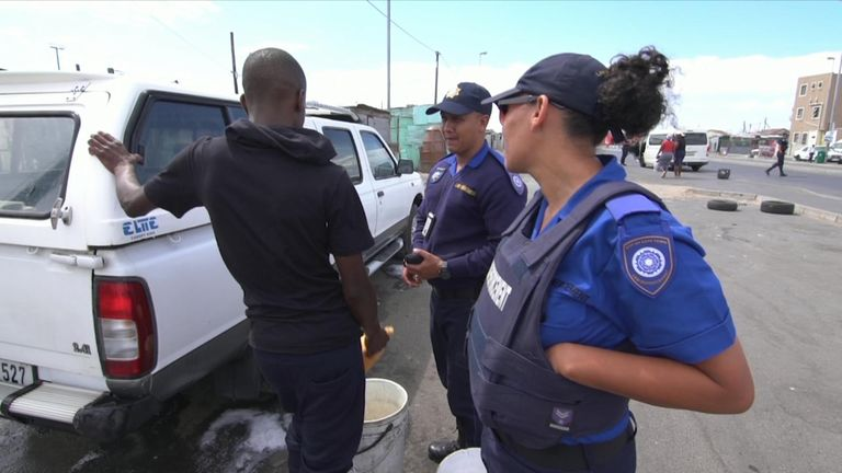 Police monitor water use in Cape Town after three years without significant rainfall