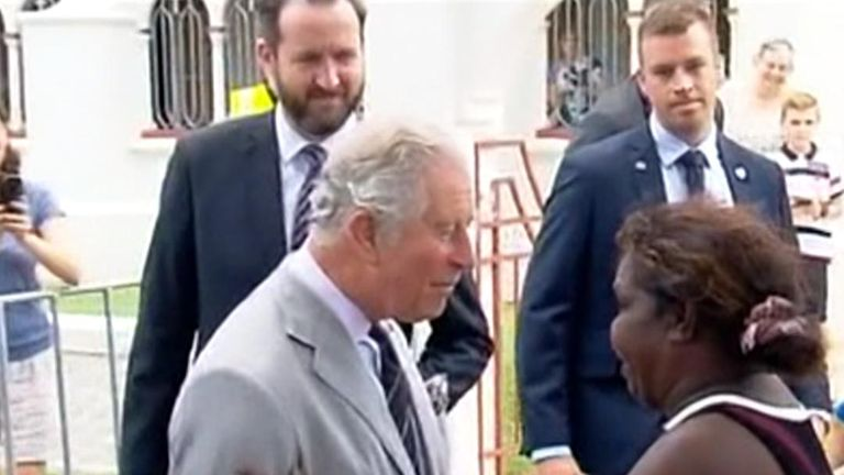 Charles met an aboriginal woman in Cairn, Australia who was named after his mum