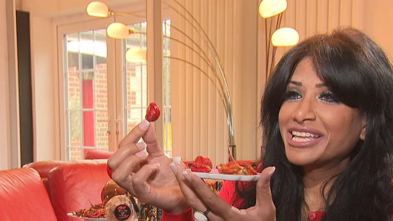 "Shahina Waseem, dubbed the ""UK Chilli Queen"", is unbeaten in 23 chilli eating competitions"