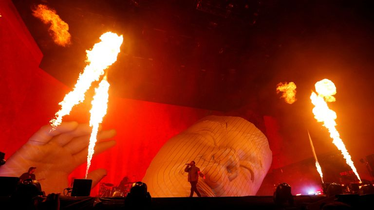 The Weeknd performs at the Coachella Valley Music and Arts Festival in Indio