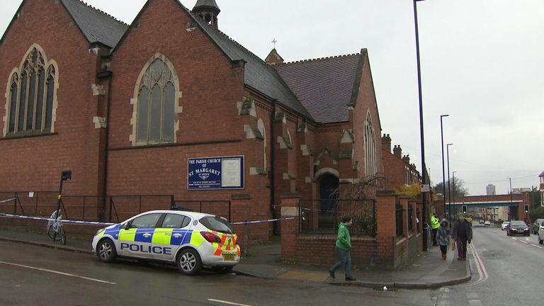 Coventry church where the stabbing took place