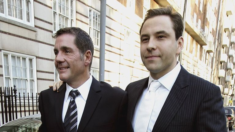 Dale Winton and David Walliams at Matt Lucas' civil partnership
