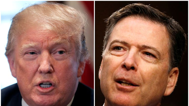 Donald Trump has attacked James Comey over an upcoming revealing interview